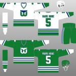 1979-1982, 1983-85 Hartford Whalers Uniform Design