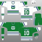 1985-86 Hartford Whalers Uniform Design
