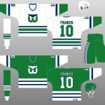 1989-90 Hartford Whalers Uniform Design